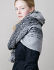 Mohair Loop Scarf - Graduated Grey - Wide