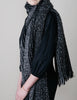 Mohair Loop Scarf - Graduated Black - Wide