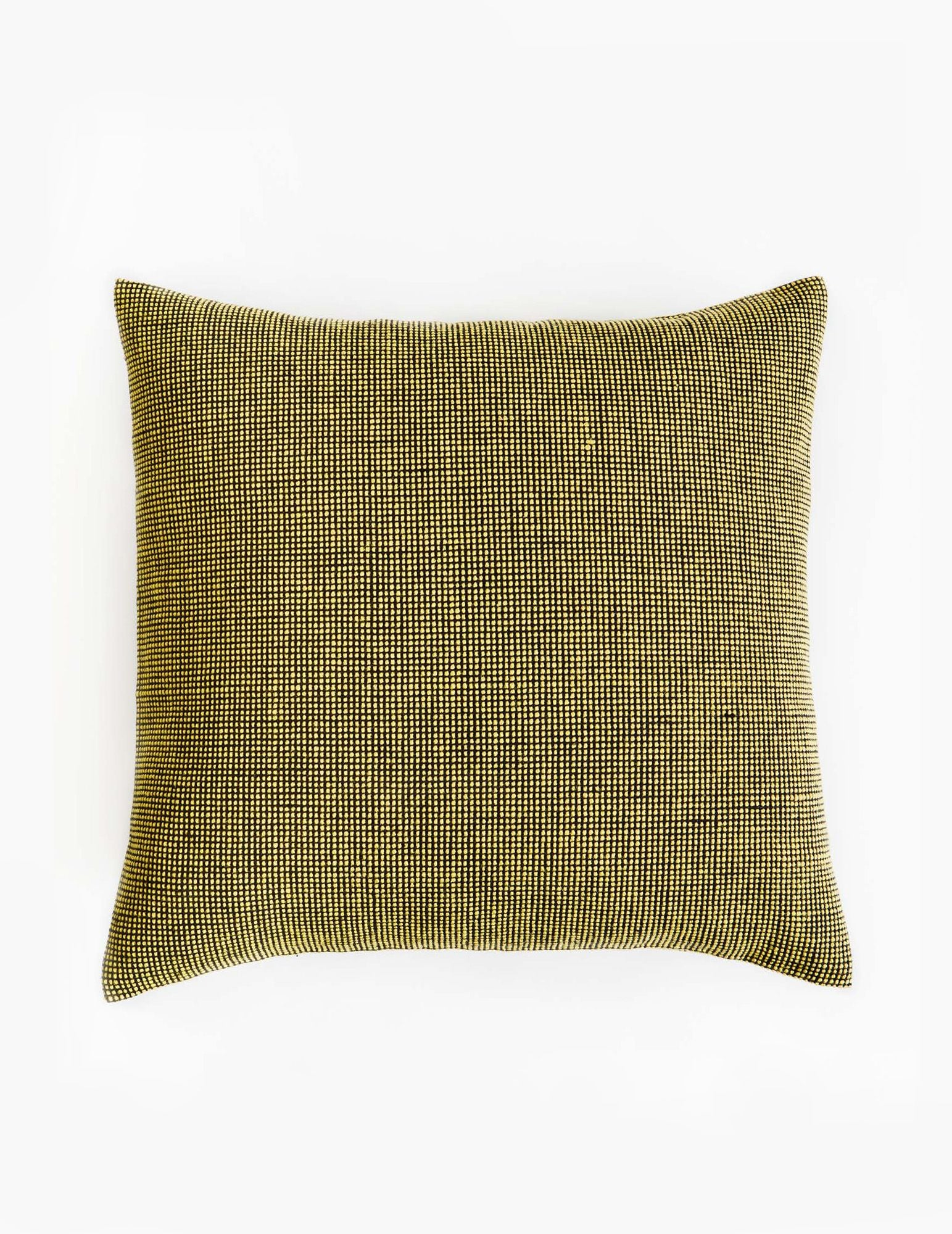 Mourne Check Cushion - Gorse