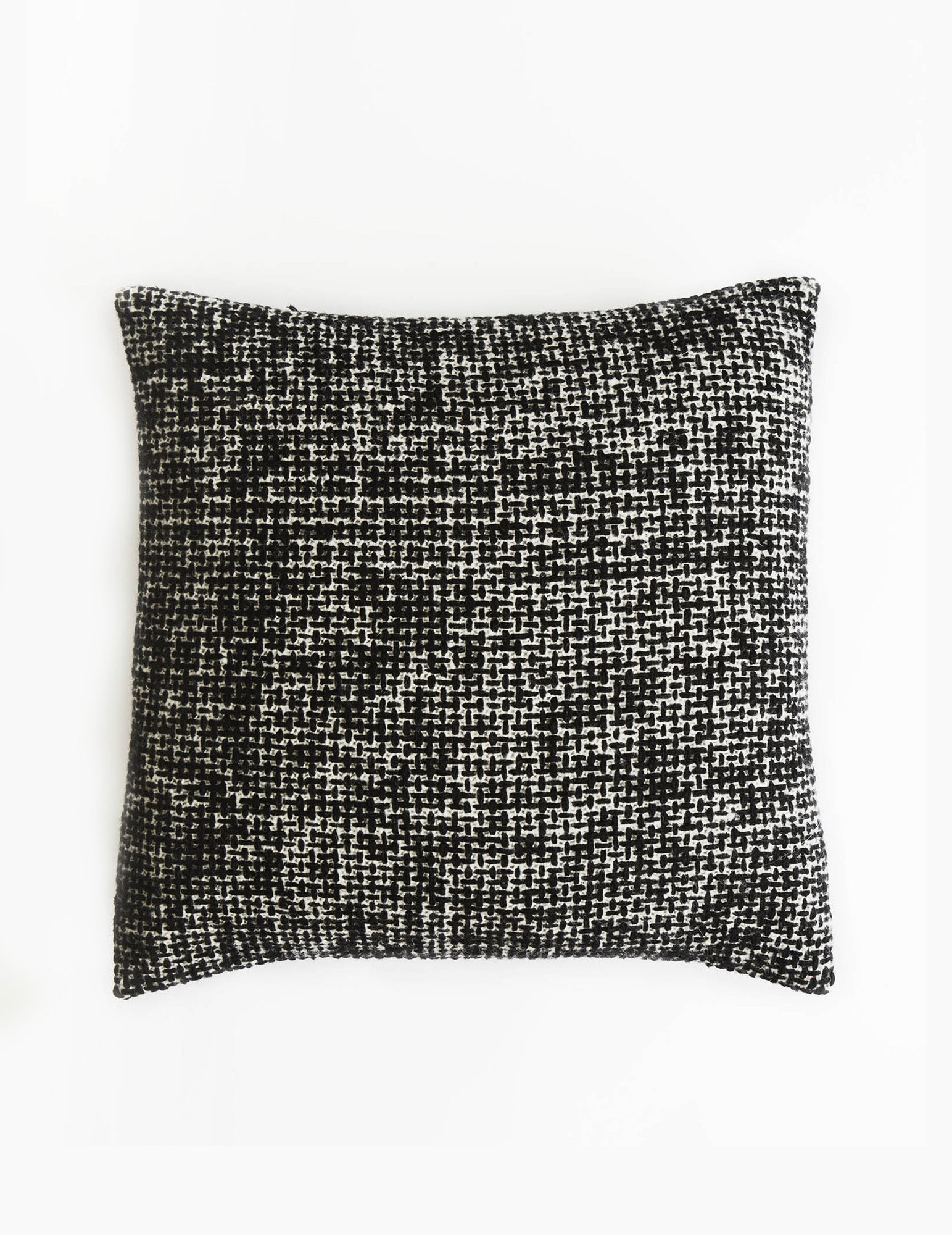 Mended Tweed Cushion - Monochrome  - V
