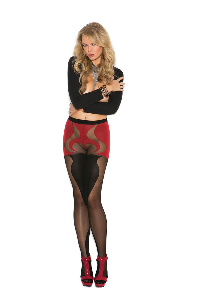 Sheer and opaque pantyhose with heart detail.