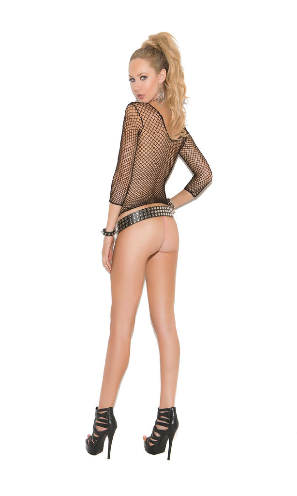 Fence net long sleeve cami top.