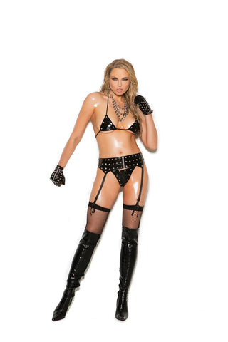 Lace garter belt with double layers. *Available Boxed