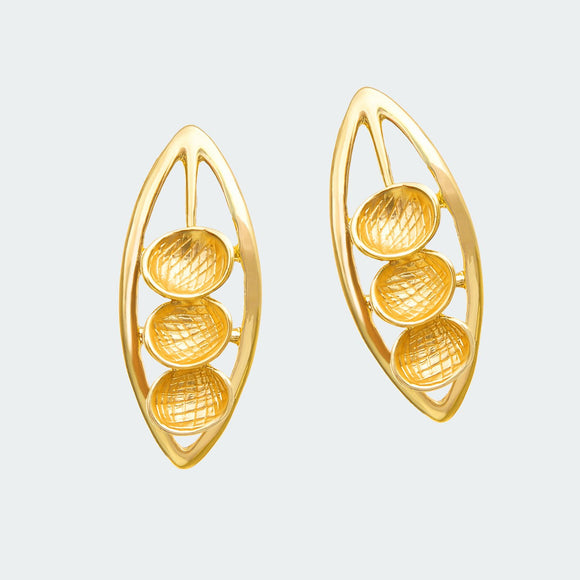 Gilded Pod Earrings
