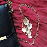 Gold Eclectic Petal Necklace