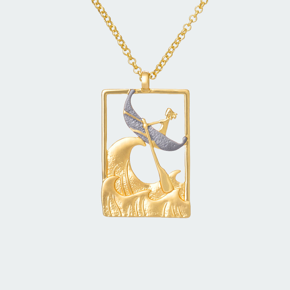 Brazen Sailorette Necklace – Gold