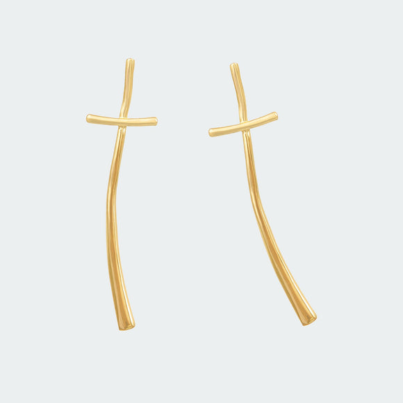 Gold Haiku Earrings