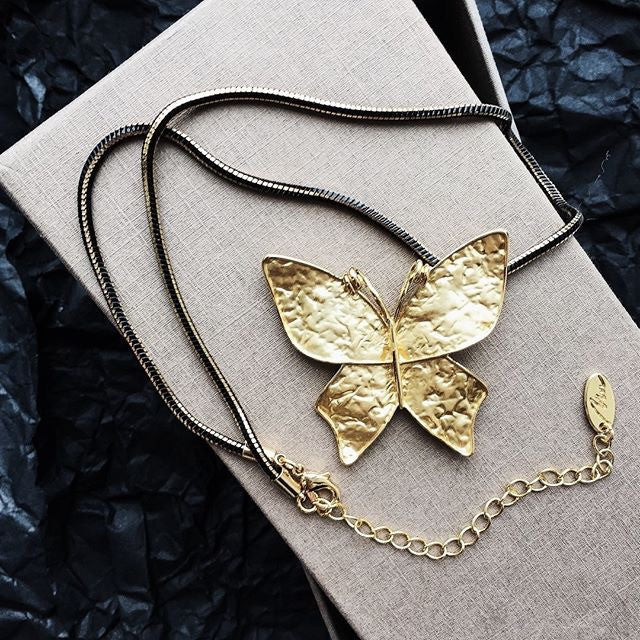 Gilded Butterfly Necklace