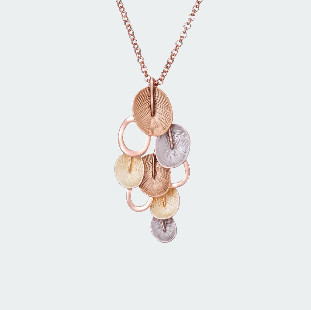 Eclectic Petal Necklace – Gold
