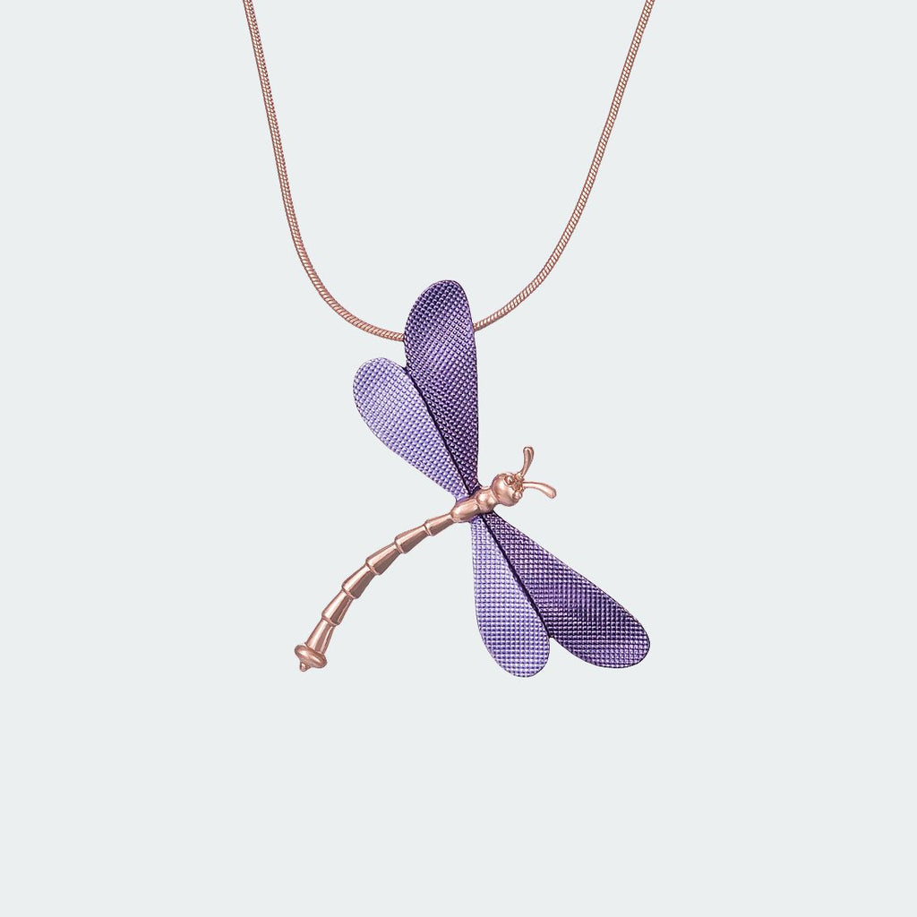 Forest Dragonfly Necklace – Lilac