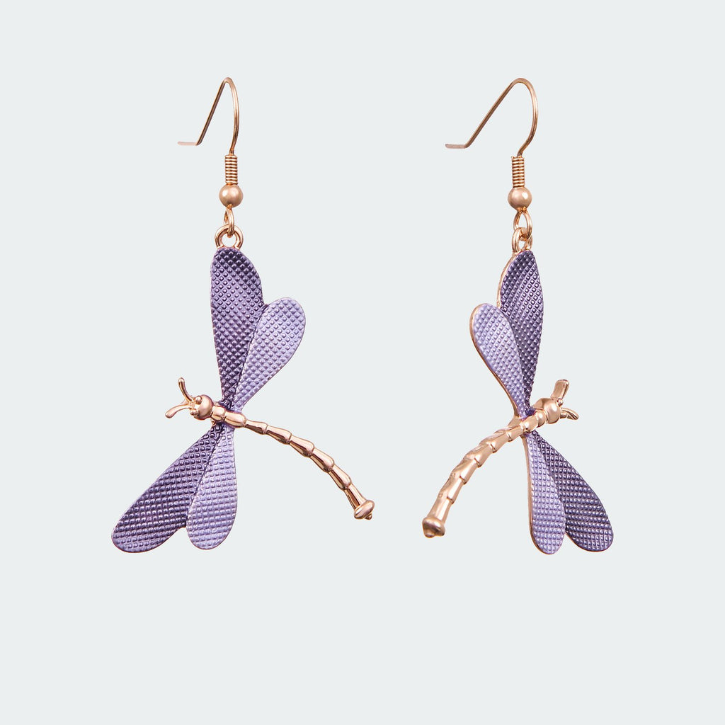 Forest Dragonfly Earrings – Lilac