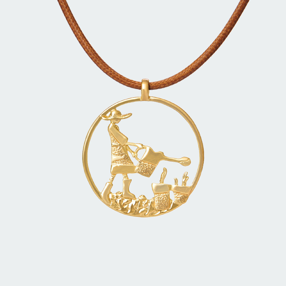 Bohemian Gardener Necklace – Gold
