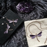 Lilac Forest Dragonfly Necklace