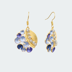 Blue Sea Garden Earrings