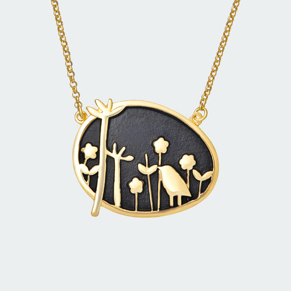 Gold Forest Dream Necklace