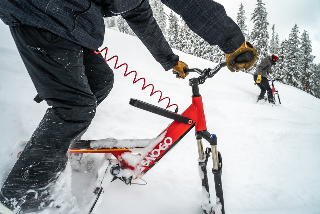 Riding A Sno-Go Skibike