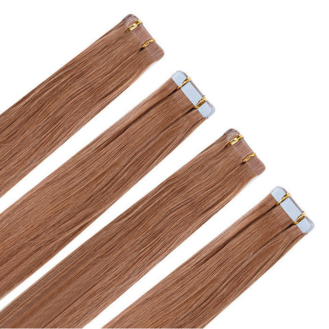 TAPE IN HAIR EXTENSIONS 100% REMY Hair Straight  #12 Light Chestnut Brown