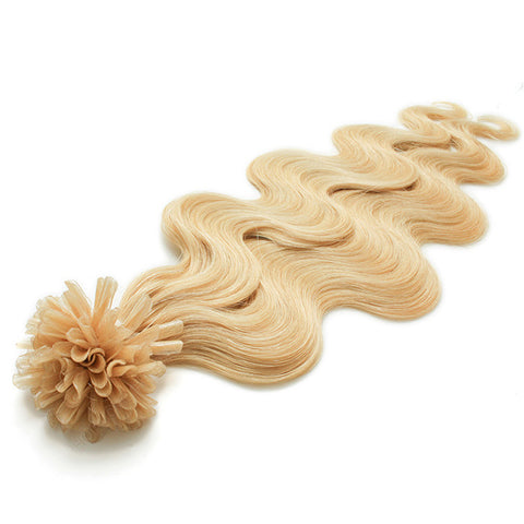 FUSION HAIR EXTENSIONS 100% REMY Hair Body Wave #24 Blonde