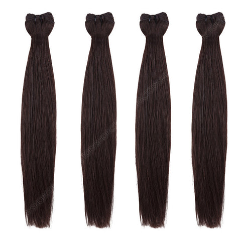 BRAZILIAN HAIR WEAVE 100% REMY Hair Straight #1B Dark Brown