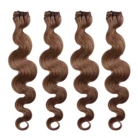 BRAZILIAN HAIR WEAVE 100% REMY Hair Body Wave #8 Chestnut Brown