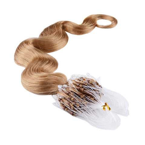 MICRO LOOP HAIR EXTENSIONS 100% REMY Hair Body Wave #27 Honey Blonde