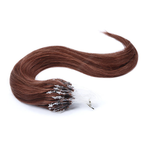 MICRO LOOP HAIR EXTENSIONS 100% REMY Hair Straight #33 Auburn