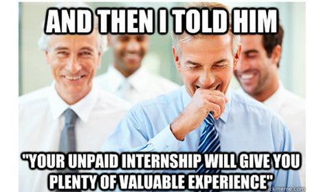 Lies told to interns