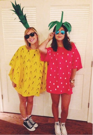 Simple to make as well as cute try this with any fruit of your choice to be the cutest duo in town. An oversize t-shirt and paper/felt stems make a fast ...  sc 1 st  AWAKE Chocolate & Halloween Costumes Your Friends Will Be Jealous Of - AWAKE Energy USA