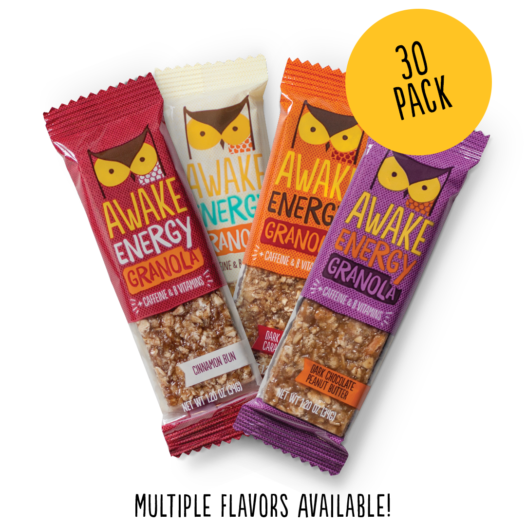 AWAKE Energy Granola Bars - Office Pack - 30 Bars