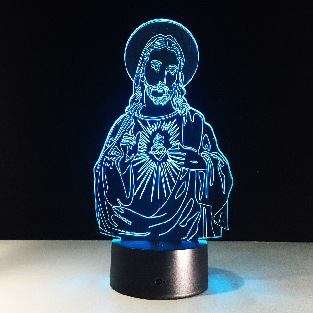 3D Colorful LED Jesus Light