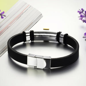 PWYW Special: Stainless Steel and Silicone Cross Bangle