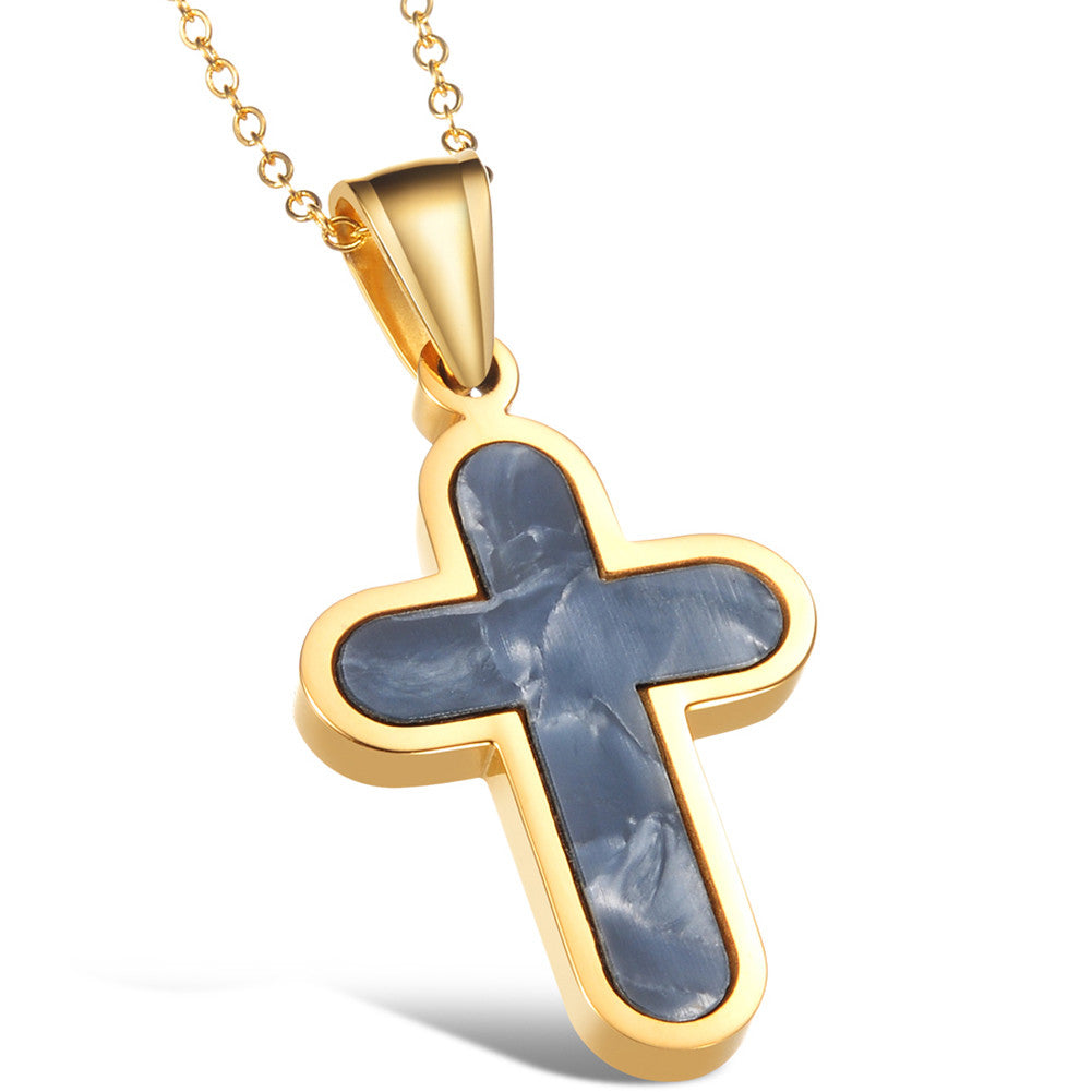 Mesmerizing Golden Cross Necklace