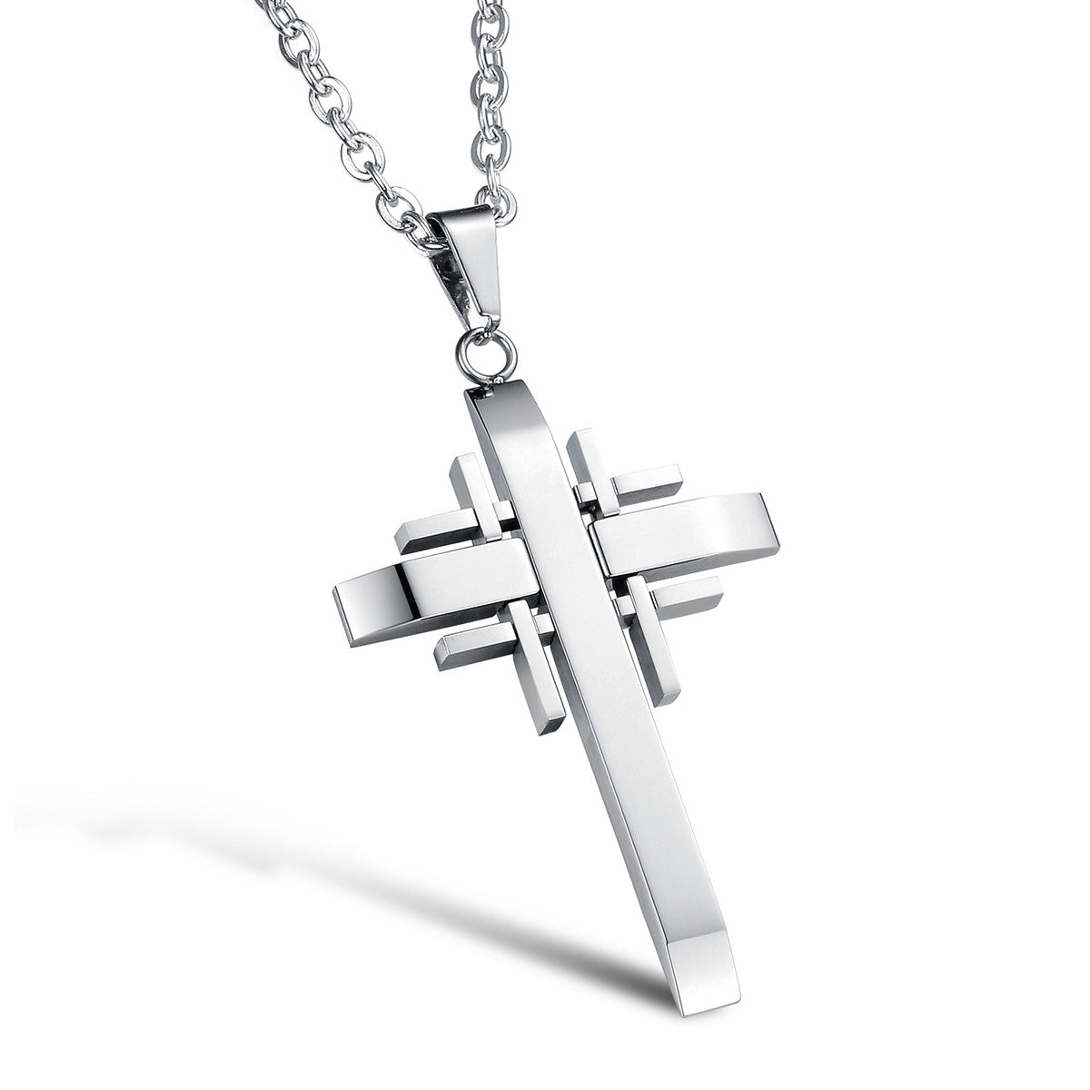 Stainless Steel Cross Pendant Necklace