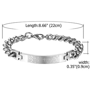 Couple Lord's Prayer Bracelet