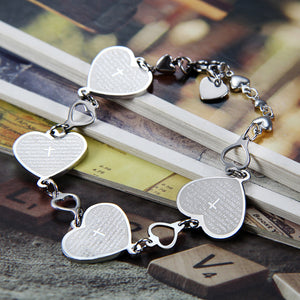 Lord's Prayer Heart Bracelet