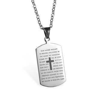 PWYW Special: English Lord's Prayer Dog Tag Necklace