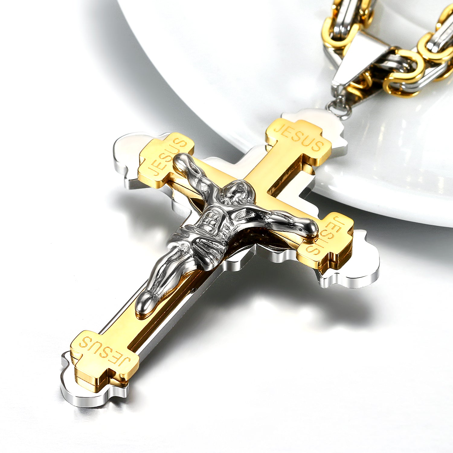 Solid Crucifix Necklace