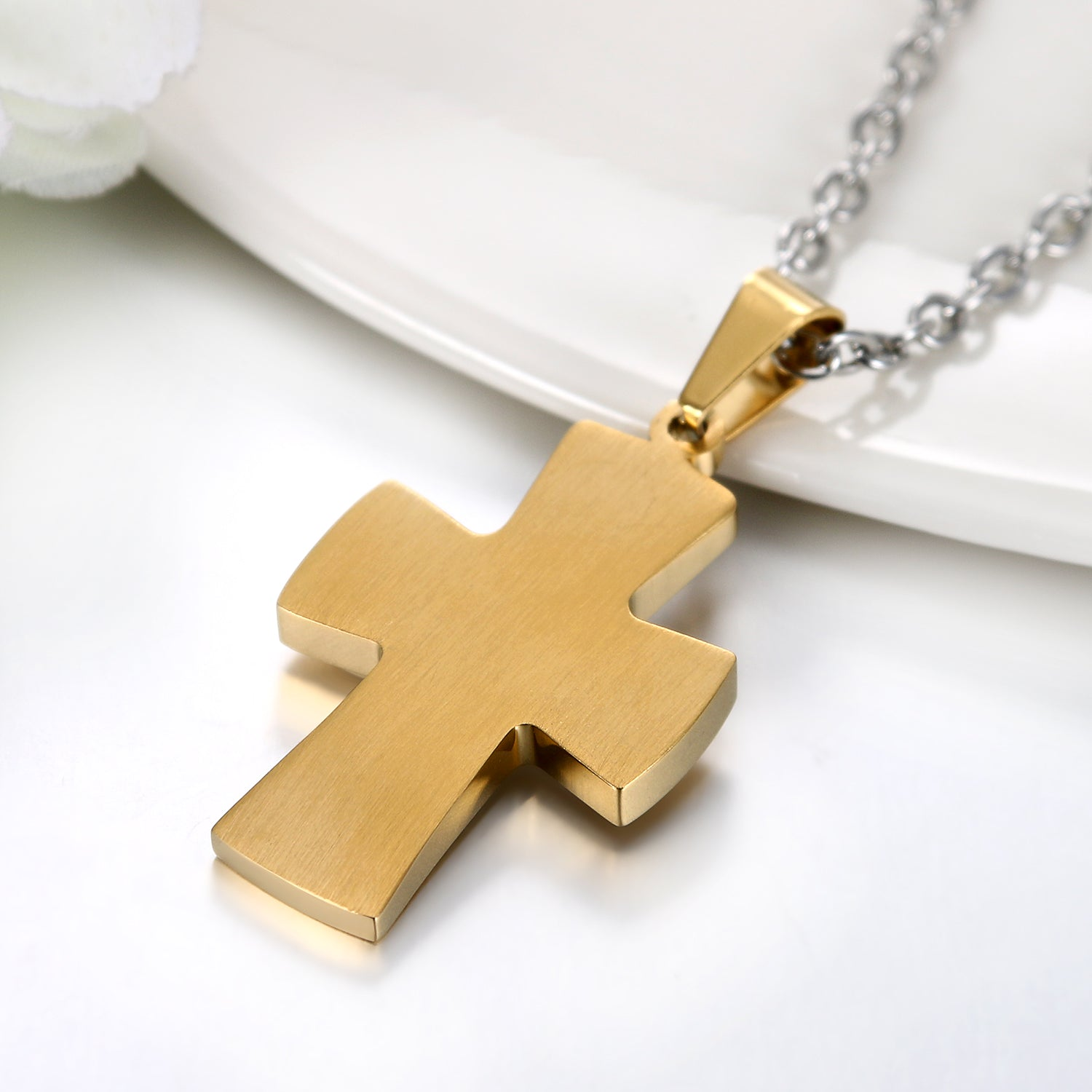 Mother of Pearl Cross Necklace