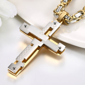 Modern Art Cross Necklace