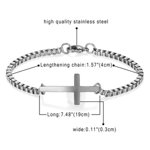 Elegant Couple Cross Charm Bracelet