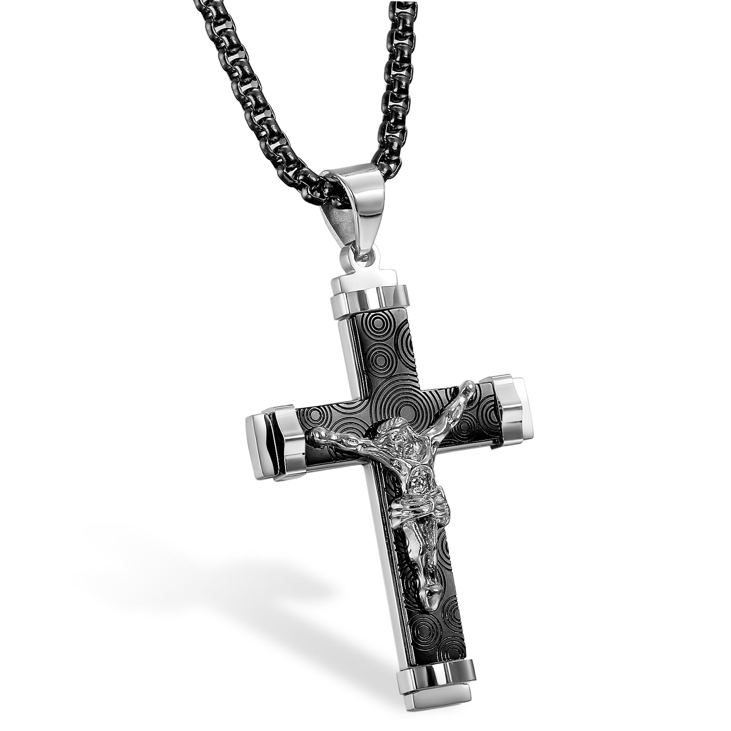 Circle Crucifix Necklace