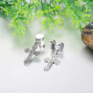Trendy Crucifix Earrings