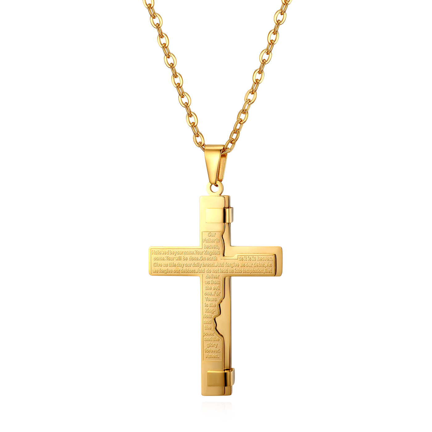 Modern English Lord's Prayer Cross
