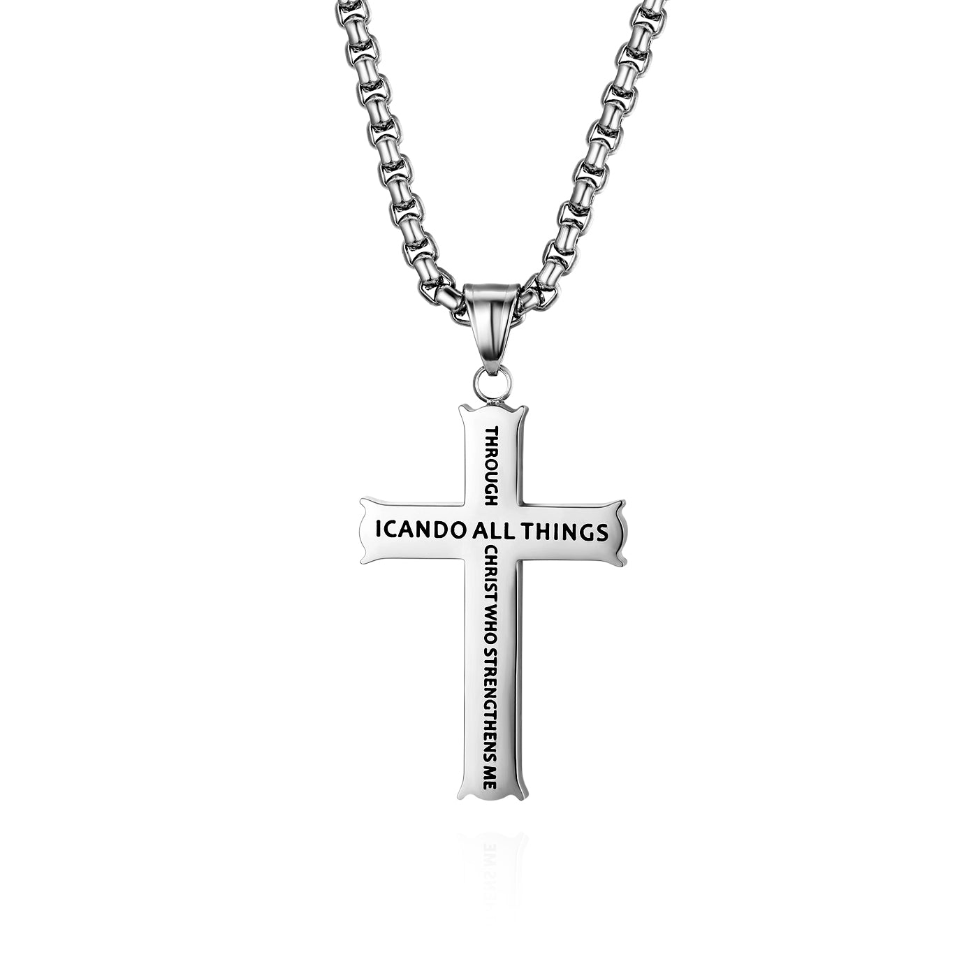 Bible Verse Cross Necklace