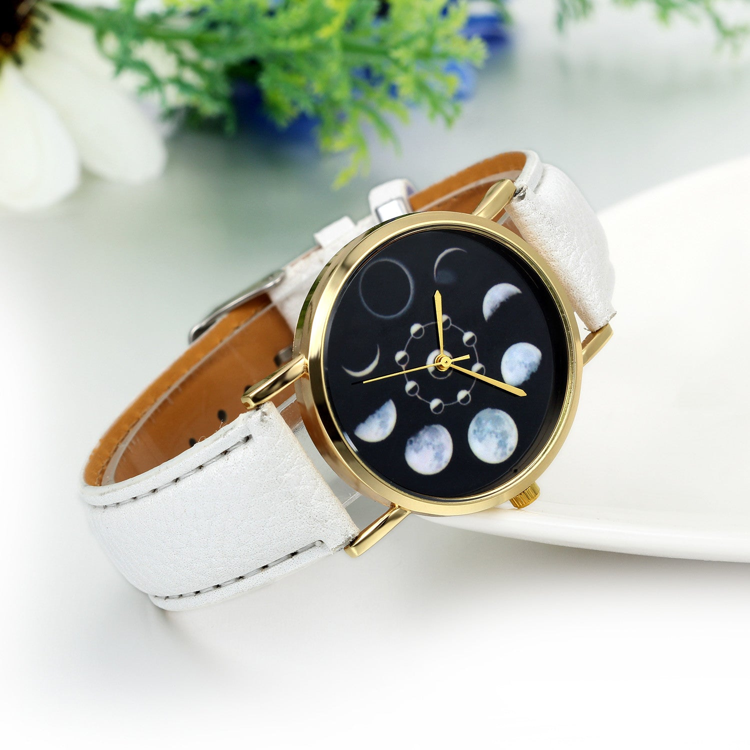 Unique Moonphase Wrist Watch
