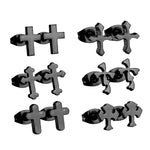 6 Pairs of Christian Cross Earrings
