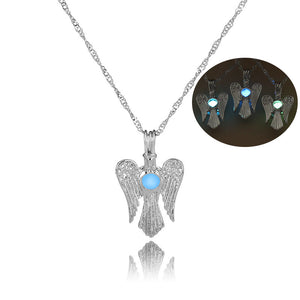 Luminous Angel Wing Necklace