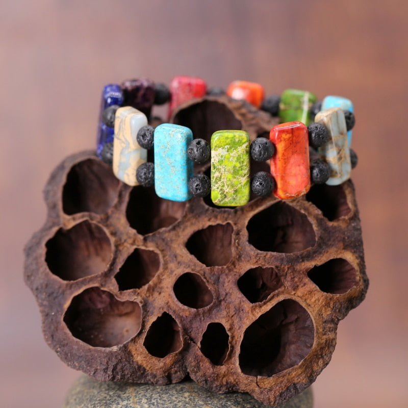 Colorful Lava Stone Bracelet