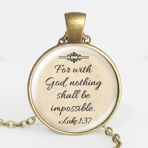 Christian Faith Quote Necklace