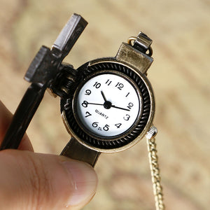 Retro Cross Pocket Watch